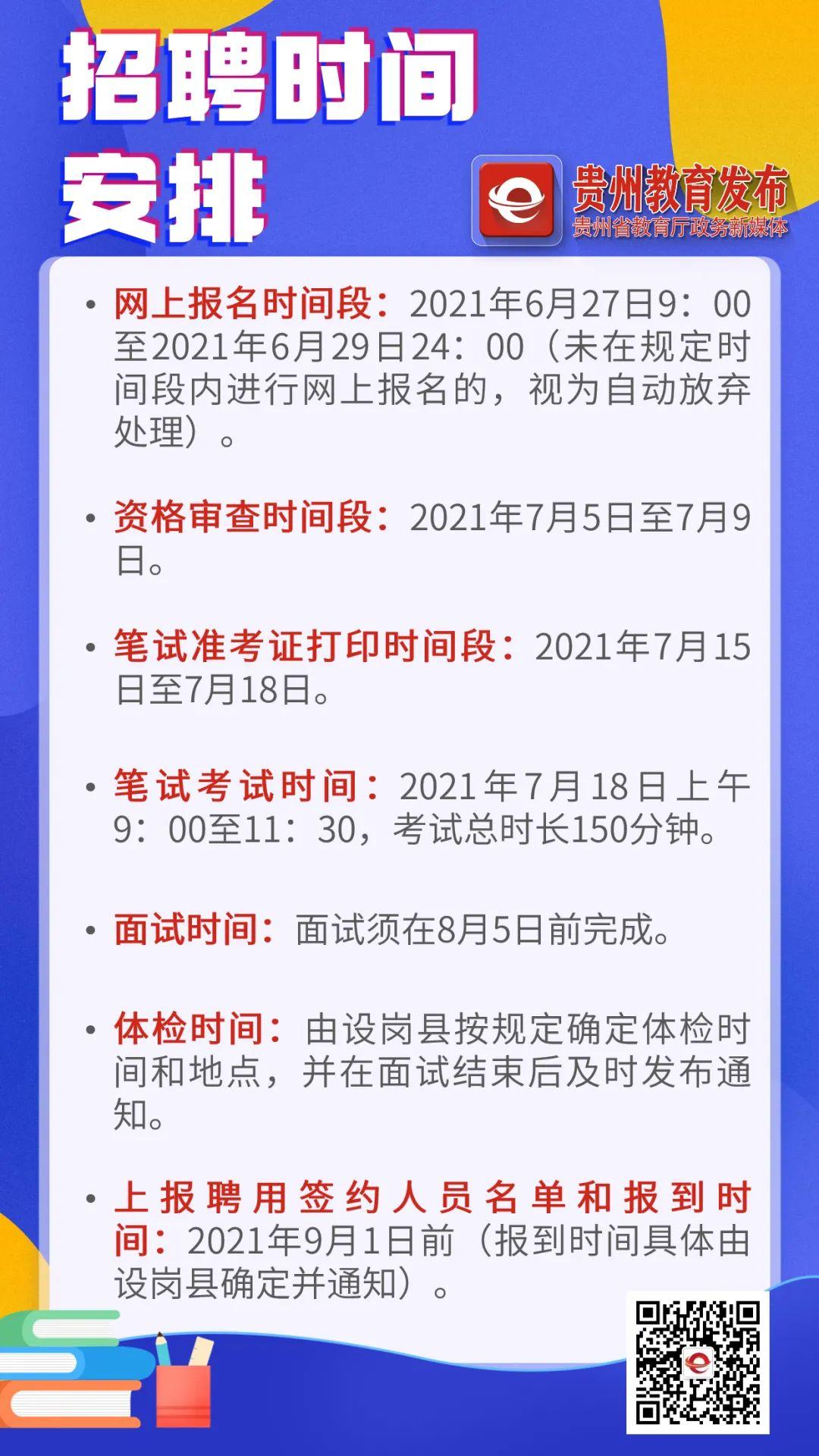 贵州省2021年特岗教师招聘6974人公告